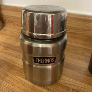 Thermos with built in spoon
